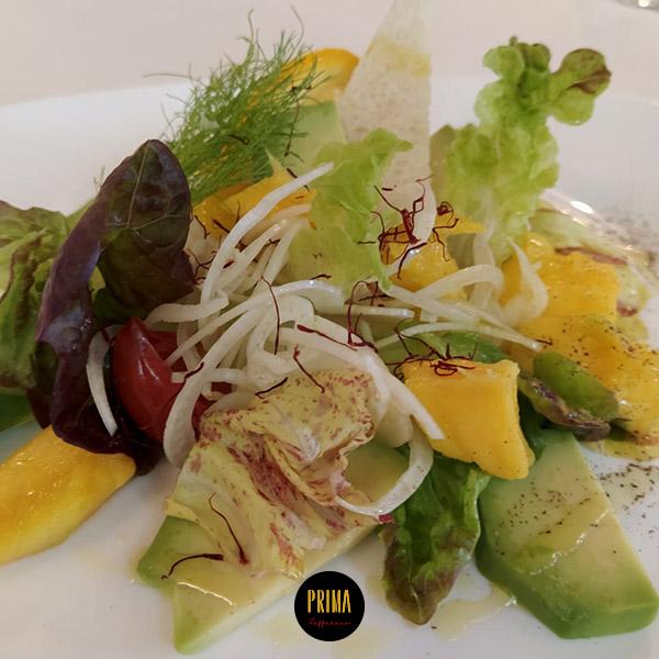 insalata avocado e zafferano